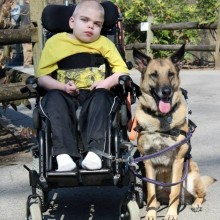 Lucas and service dog Juno
