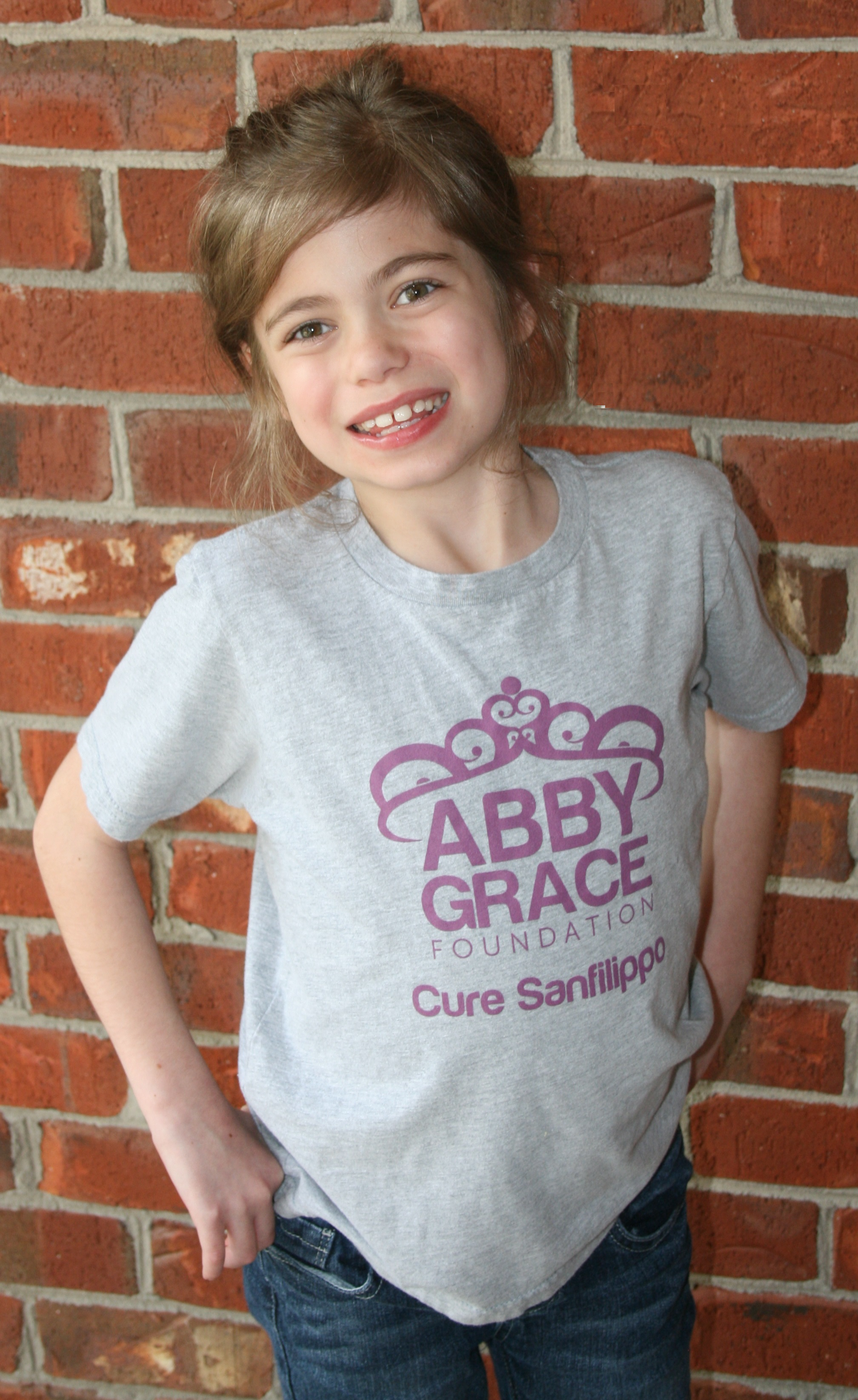 Abby Grace wearing her foundation T-Shirt